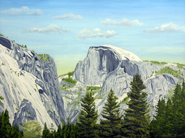 Half Dome, Oil Painting