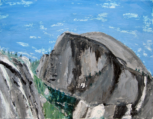 Half Dome Knife Painting, Acrylic Waterbased Painting