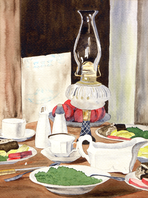 Still Life with Lantern, 