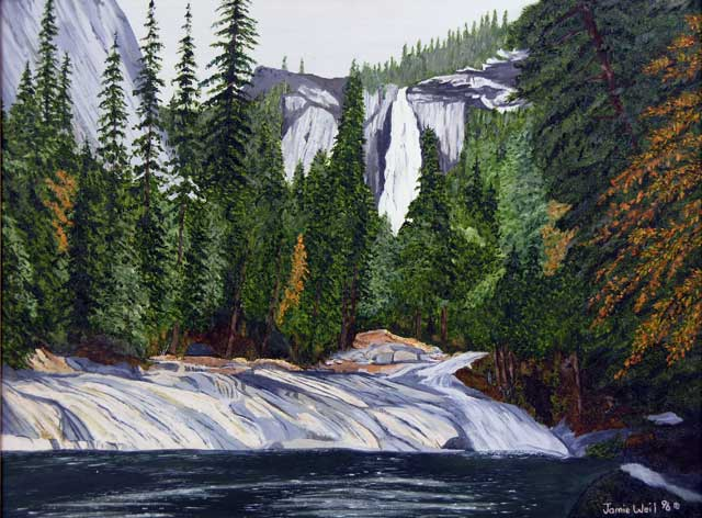 Nevada Falls from Emerald Pool, 