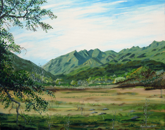 Ojai Valley Land Conservancy Mountain View, Acrylic Water Based Painting