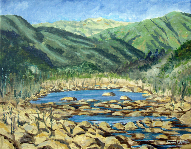 Ventura River and Mountains  