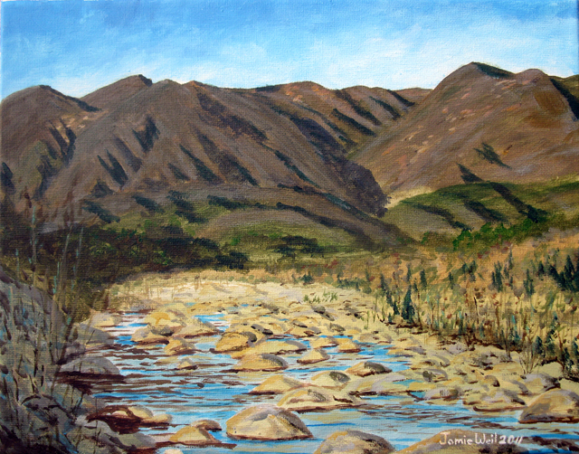 Ventura River and Mountains 2, 