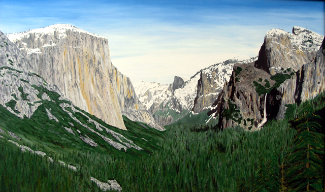 Yosemite Valley, Oil Painting